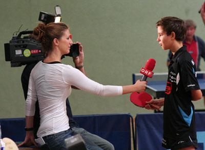 Matteo wird interviewt