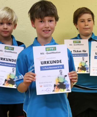Ohne Niederlage: Jonas, Matthias, Lino